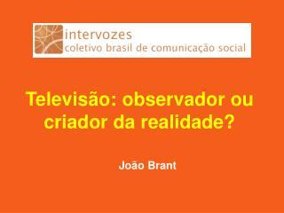 Televis�o: observador ou criador da realidade?