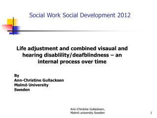 Social  Work  Social Development 2012
