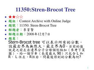 11350:Stren-Brocot Tree