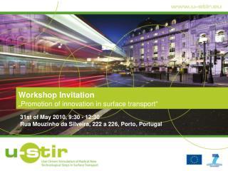 "Workshop Invitation ""Promotion of innovation in surface transport"""