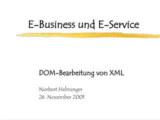 E-Business und E-Service