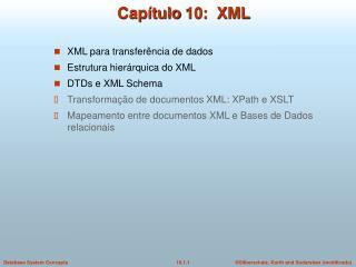 Capítulo  10:  XML