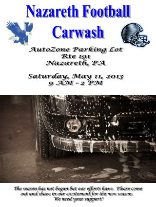 Nazareth Football Carwash