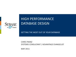 High Performance Database Design