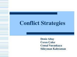 Conflict Strategies