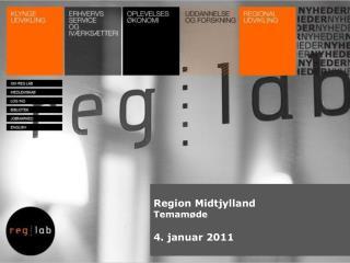 Region Midtjylland Temamøde 4 . januar 2011