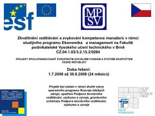 Projekt ESF CZ.04.1.03/3.2.15.2/0284