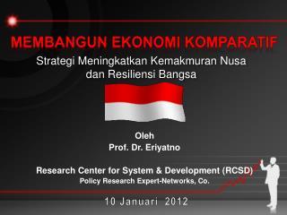 Strategi Meningkatkan Kemakmuran Nusa  dan Resiliensi Bangsa
