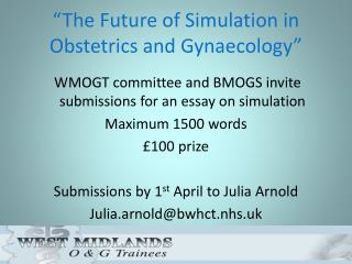 """The Future of Simulation in Obstetrics and Gynaecology"""