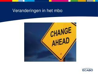 Veranderingen in het mbo