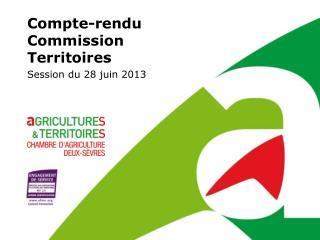 Compte-rendu Commission Territoires