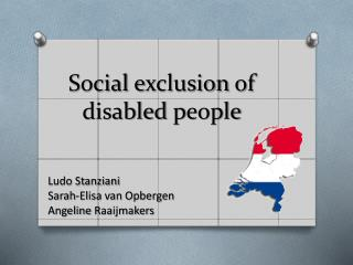 Social e xclusion of  disabled p eople