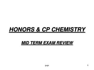 HONORS & CP CHEMISTRY