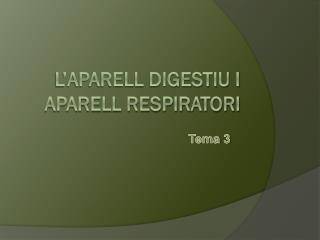 L'aparell digestiu i aparell respiratori