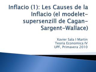 Xavier Sala I Martin Teoria Economica  IV UPF, Primavera 2010