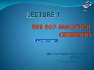ERT 207 ANALYTICAL CHEMISTRY