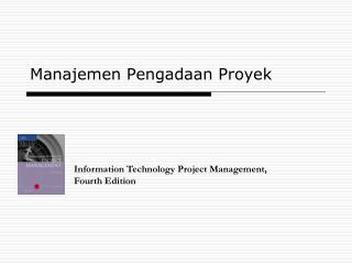 Manajemen Pengadaan Proyek