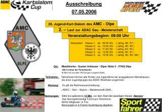 2. –  Lauf zur ADAC Gau - Meisterschaft
