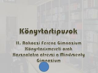 Könyvtártípusok