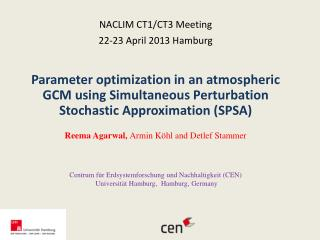 NACLIM  CT1/CT3  Meeting  22-23  April 2013 Hamburg