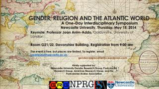 GENDER, RELIGION AND THE ATLANTIC WORLD
