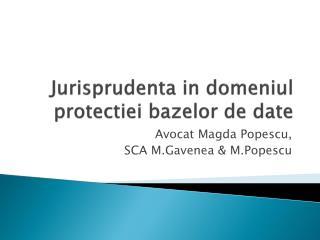 Jurisprudenta  in  domeniul protectiei bazelor  de date