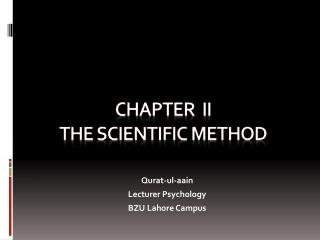 CHAPTER  ii THE Scientific method