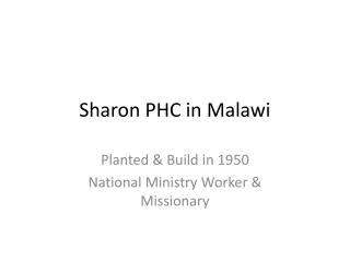Sharon PHC in Malawi