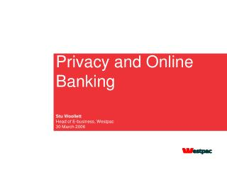 Privacy and Online Banking