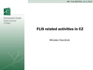 FLIS  related activities  in CZ