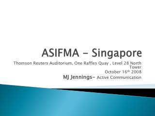 ASIFMA - Singapore