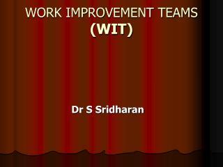WORK IMPROVEMENT TEAMS (WIT)