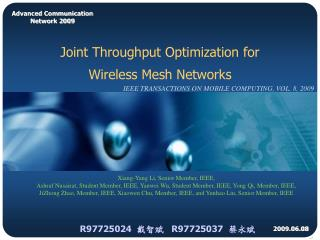 Joint Throughput Optimization for  Wireless Mesh Networks
