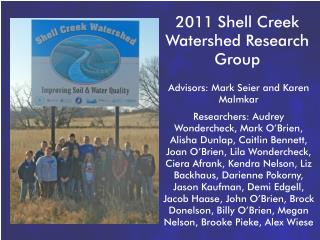 2011 Shell Creek Watershed Research Group