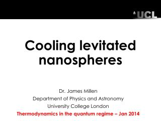 Cooling levitated  nanospheres