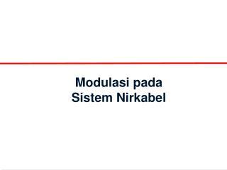 Modulasi pada Sistem Nirkabel