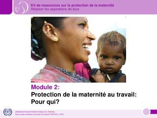 Module 2: Protection de la maternité au travail: Pour qui?