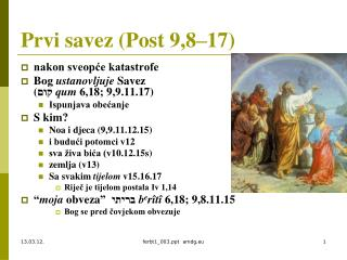 Prvi savez (Post 9,8–17)