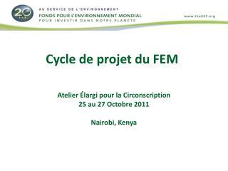 Cycle de projet du FEM