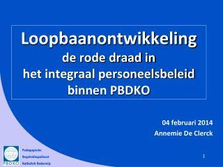 Loopbaanontwikkeling de rode draad in  het integraal personeelsbeleid binnen PBDKO