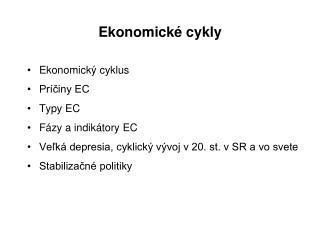 Ekonomické cykly