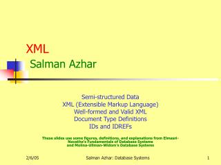 XML Salman Azhar