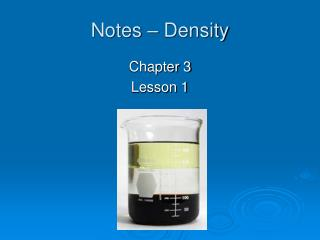 Notes   Density
