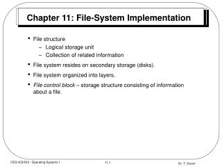 Chapter 11: File-System Implementation