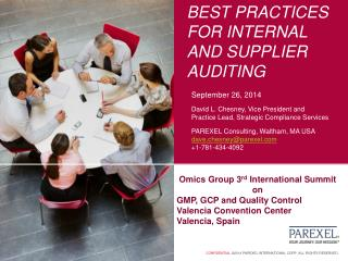 Best practices for internal and supplier auditing