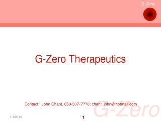 G-Zero Therapeutics