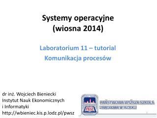 Systemy operacyjne (wiosna  2014)