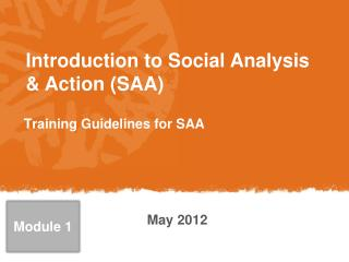 Introduction  to Social Analysis & Action (SAA)