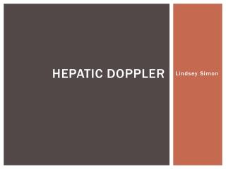 Hepatic Doppler