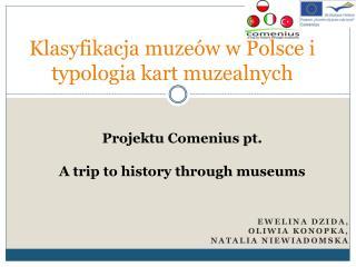 Klasyfikacja muzeów w Polsce i typologia kart muzealnych